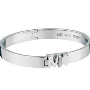 Michael Kors Haute Hardware Silver Bangle Bracelet